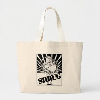 SHRUG Inspired by the Novel Atlas Shrugged Bags