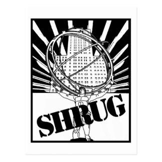 SHRUG Inspired by the Novel Atlas Shrugged Postcard