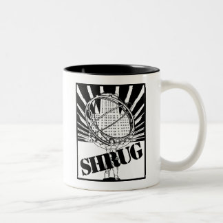 SHRUG Inspired by the Novel Atlas Shrugged Two-Tone Coffee Mug
