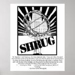 SHRUG Poster Inspired by the Novel Atlas Shrugged