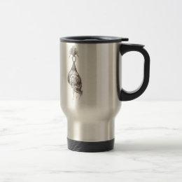 Shrunken Head Design Travel Mug