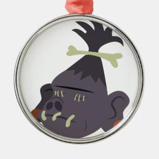 Shrunken Head Metal Ornament