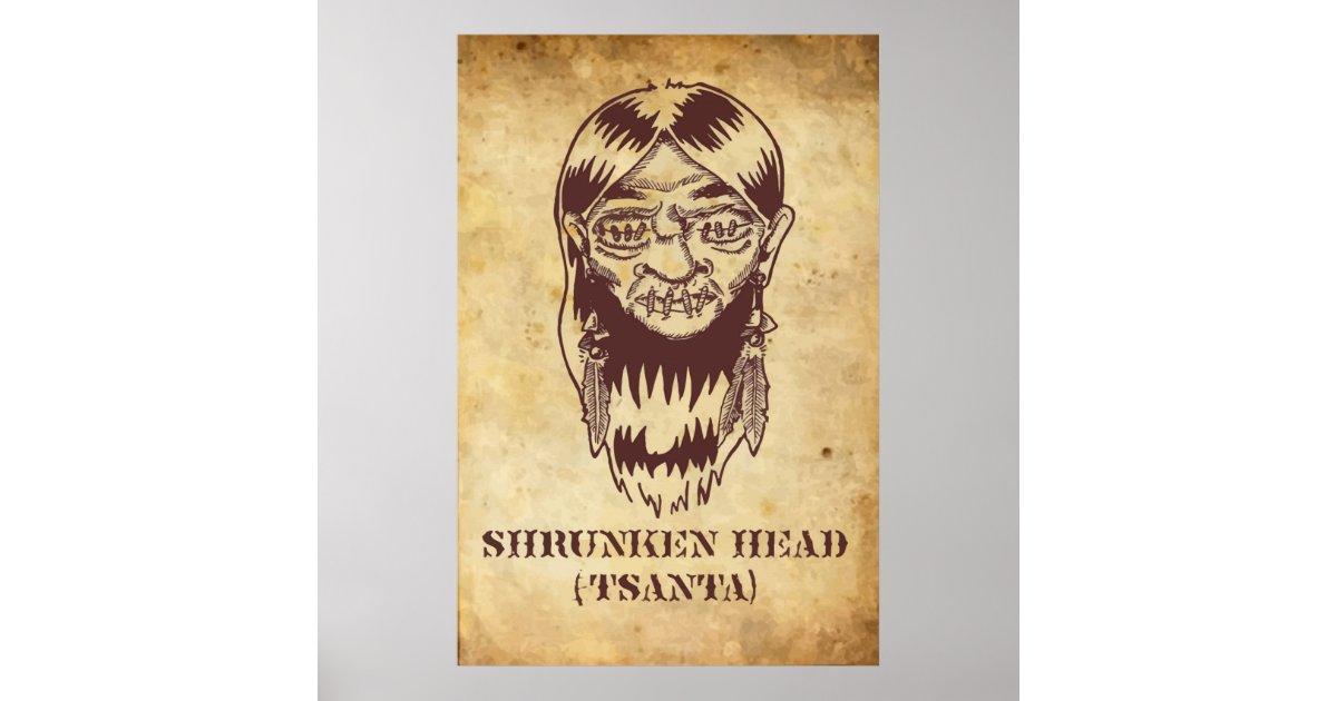 shrunken head poster zazzle. Black Bedroom Furniture Sets. Home Design Ideas