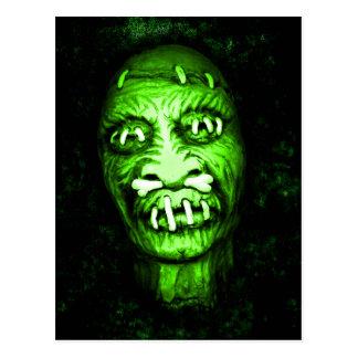 Shrunken Head Zombie Postcard
