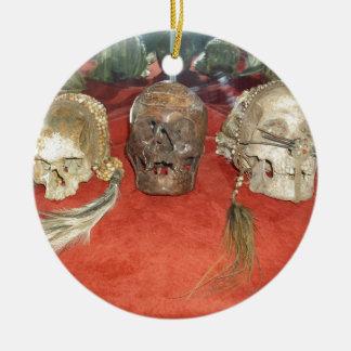 Shrunken Heads Voodoo Display Ceramic Ornament