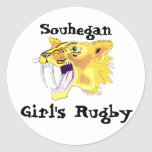 shs saber logo, Souhegan , Girl's Rugby 2 Classic Round Sticker
