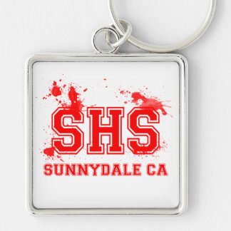 SHS Silver-Colored SQUARE KEYCHAIN