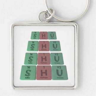 Shu as Sulfur Hydrogen Uranium Key Chains
