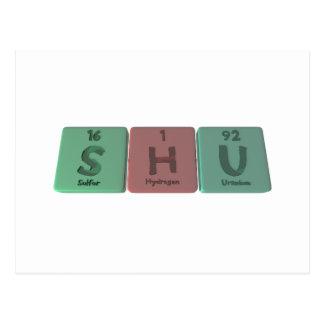 Shu as Sulfur Hydrogen Uranium Postcard