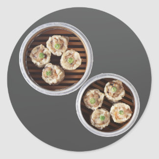 Shu Mai Round Sticker