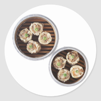 Shu Mai Round Stickers