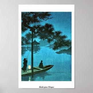 Shubi pine Ukiyoe Poster