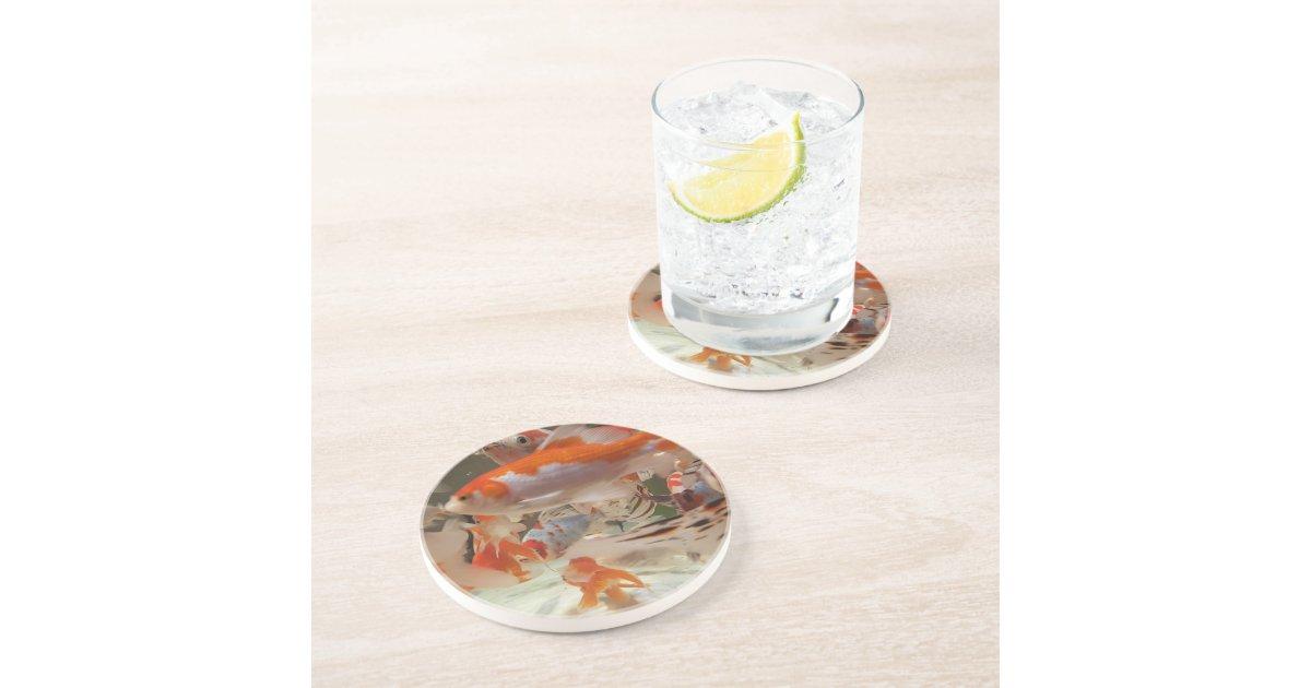 Shubunkin and Common Goldfish Coaster | Zazzle.com