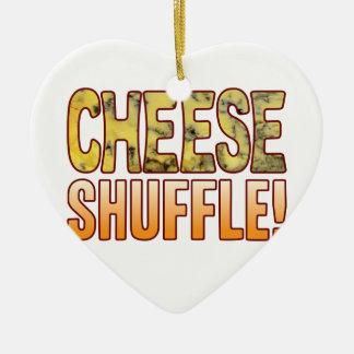 Shuffle Blue Cheese Ceramic Ornament