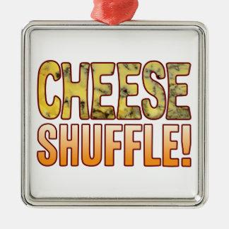 Shuffle Blue Cheese Metal Ornament
