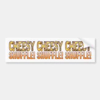 Shuffle Blue Cheesy Bumper Sticker