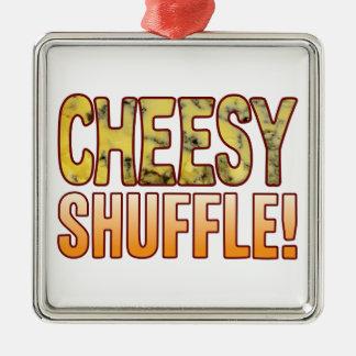Shuffle Blue Cheesy Metal Ornament