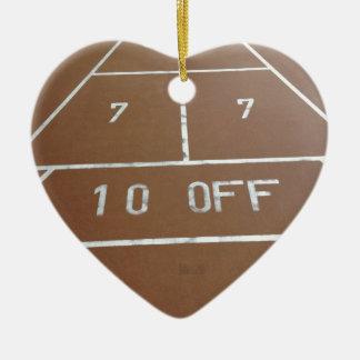 Shuffle Board Ceramic Ornament