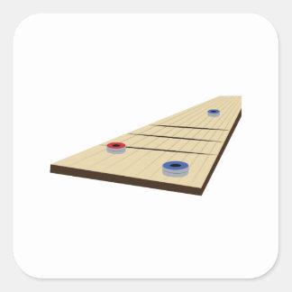 Shuffle Board Square Sticker
