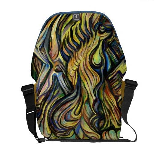 Shuffle de la pintura abstracta de la bolsa de men bolsas de mensajería