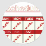 Shuffle Everyday Classic Round Sticker