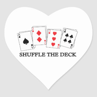 SHUFFLE THE DECK HEART STICKER