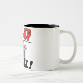 Shuffle up and Deal! T-shirts and Gifts Two-Tone Coffee Mug