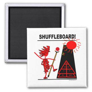 Shuffleboard! 2 Inch Square Magnet