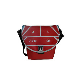 Shuffleboard a bordo rojo bolsa messenger