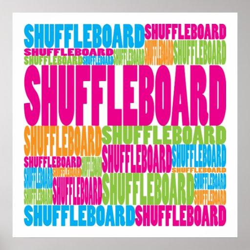 Shuffleboard colorido póster