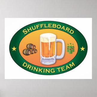 Shuffleboard Drinking Team Poster