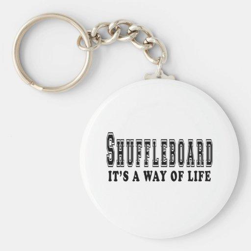 Shuffleboard es manera de vida llavero personalizado