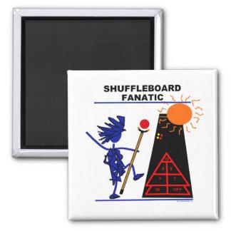 Shuffleboard Fanatic 2 Inch Square Magnet