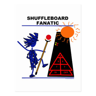 Shuffleboard Fanatic Post Card