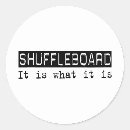 Shuffleboard It Is Sticker