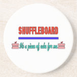 Shuffleboard It's a piece of cake for me Beverage Coaster