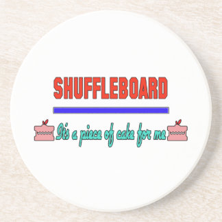 Shuffleboard It's a piece of cake for me Coaster