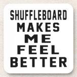 Shuffleboard Makes Me Feel Better Beverage Coasters