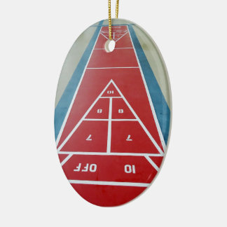 Shuffleboard on Board Ceramic Ornament
