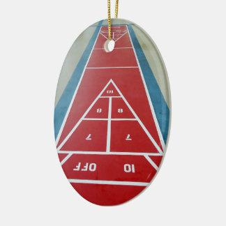 Shuffleboard on Board Ceramic Ornament