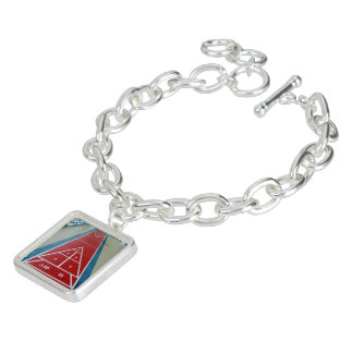 Shuffleboard on Board Charm Bracelet