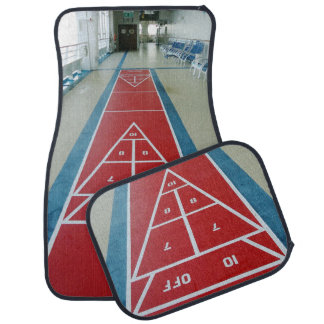 Shuffleboard on Board Front and Back Car Floor Mat