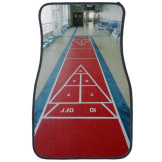 Shuffleboard on Board Front Car Floor Mat