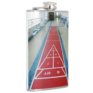 Shuffleboard on Board Hip Flask