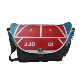 Shuffleboard on Board Medium Messenger Bag