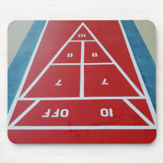 Shuffleboard on Board Mouse Pad