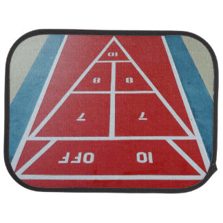 Shuffleboard on Board (rear) Car Floor Mat