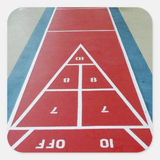 Shuffleboard on Board Square Sticker