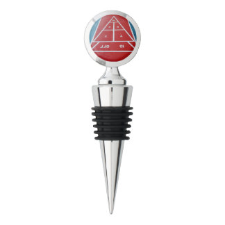 Shuffleboard on Board Wine Stopper