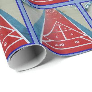 Shuffleboard on Board Wrapping Paper
